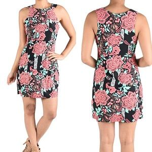 Aryeh Large Floral Sleeveless Shift Dress